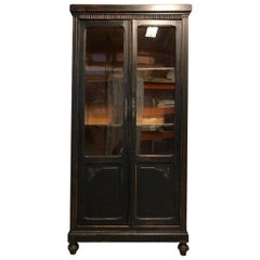 Vintage French Wooden Bookcase/Cabinet