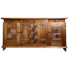 1930s Walnut Design Sideboard by Charles Dudouyt