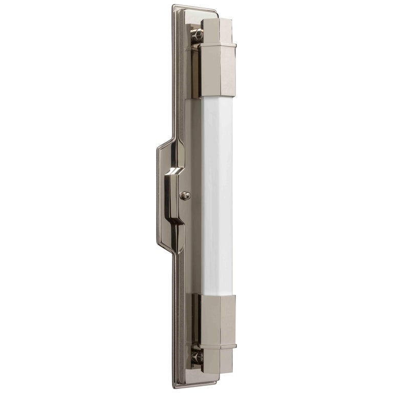 Jamb, Conroy, Nickel Wall Light Sconce in the Art Deco Style (USA Wired)