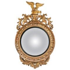 Regency Period Convex Circular Mirror