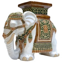 Ceramic Elephant Stool or Side Table