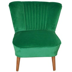 Cocktail Chair with a Green Fabric