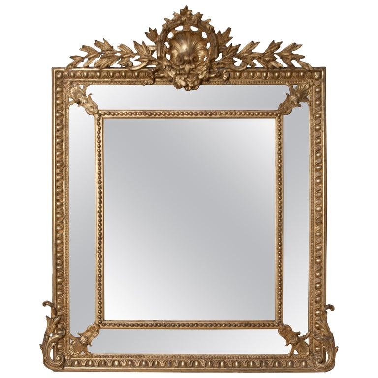 """French Louis XVI Style """"Parecloses"""" Mirror"""