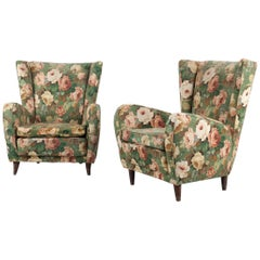 Italian Pair of Armchairs in the Style of Paolo Buffa, 1950s