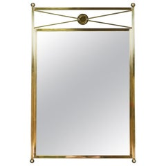 Vintage Neoclassical Style Brass Mirror by Baker