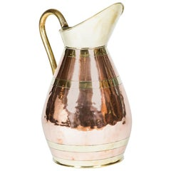 Large Scale Copper and Brass Jug