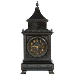 Slate Bracket Clock in the Gothic Style by William Gabriel of London