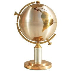 Mid-20th Century Brass Globe Cigarette Holder