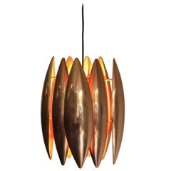 1960s Jo Hammerborg Scandinavian Copper Kastor Pendant Lamp for Fog & Morup