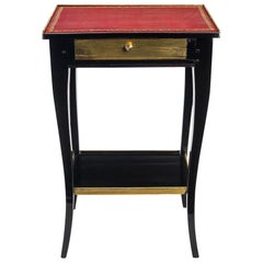 French Louis XV Period, Small Side Table in Walnut Lacquered, circa 1740-1750