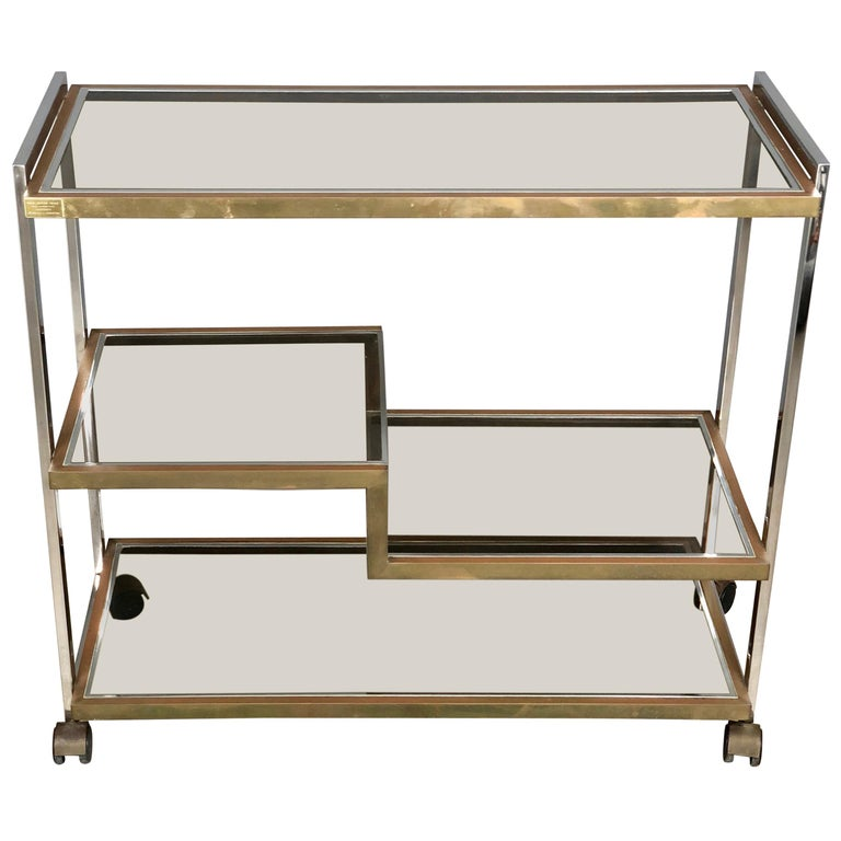Serving Cart Trolley Chrome And Br By Serantoni Arcangeli New Ideas Inox For