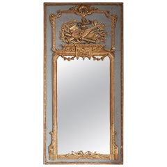 French Trumeau Mirror with Musical Instruments
