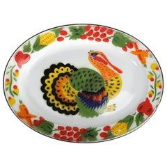 Enamelware Turkey Platter, American 1950s