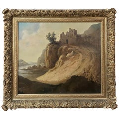 Antique Framed Oil Painting on Canvas by Roelofs