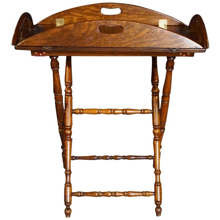Early 19th Century Oak Oval Butlers Tray