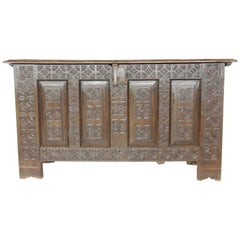 17th Century Oak Chest of Arms