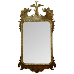 19th Century Yew Wood and Silver Gilt Mirror