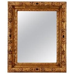 French Antique Mirror Giltwood, circa 1930