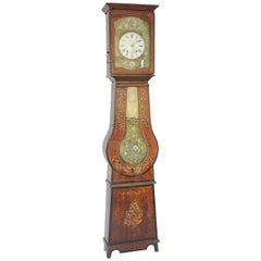 19th Century French Painted Grandfather Clock