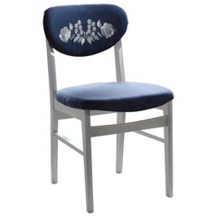 Kalocsa Patterned Blue Chair