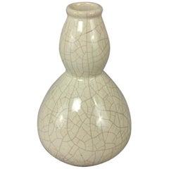 French Art Deco Saint Clement Crackle Ceramic Vase