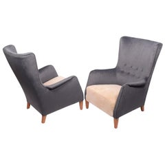 Pair of 1940s Easy Chairs in the Style of Frits Henningsen