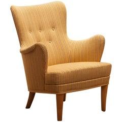 """Carl Malmsten Easy or Lounge Chair """"Gävle"""" by OH Sjogren"""