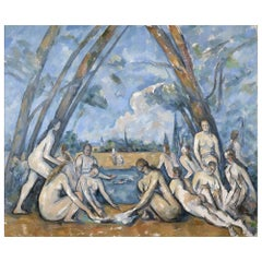 Large Bathers, after Expressionist Oil Painting Paul Cézanne