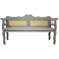 Painted Pine Bench or Settle