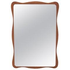 Danish Modern Wavy Mirror