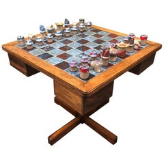Midcentury Danish Rosewood Chess Table by Mogens Lund