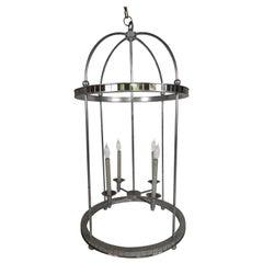 Mirrored Birdcage Chandelier