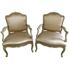 Pair of Yale R Burge Louis XVI Style Fauteuils