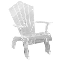 Lucite Adirondack Chair by Serge de Troyer, USA, 2009