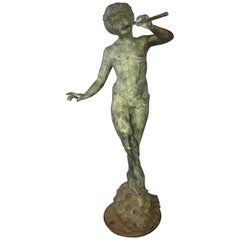Large French 19th Century Bronze Figure of a Naked Pan