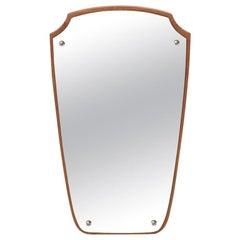 Danish Modern Shield Mirror