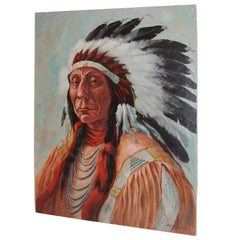 Chief Red Cloud Signed and Dated 1982