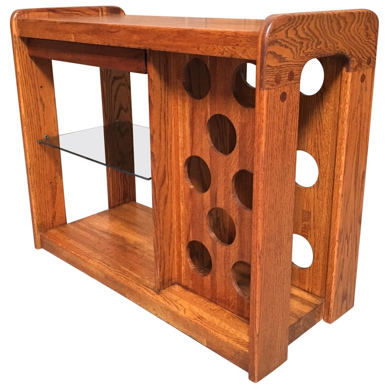 California Design 1970s Wine Table by Lou Hodges
