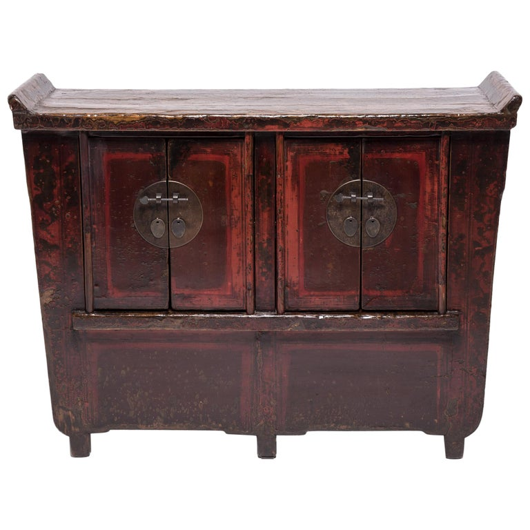 19th Century Chinese Flanked Prosperity Chest