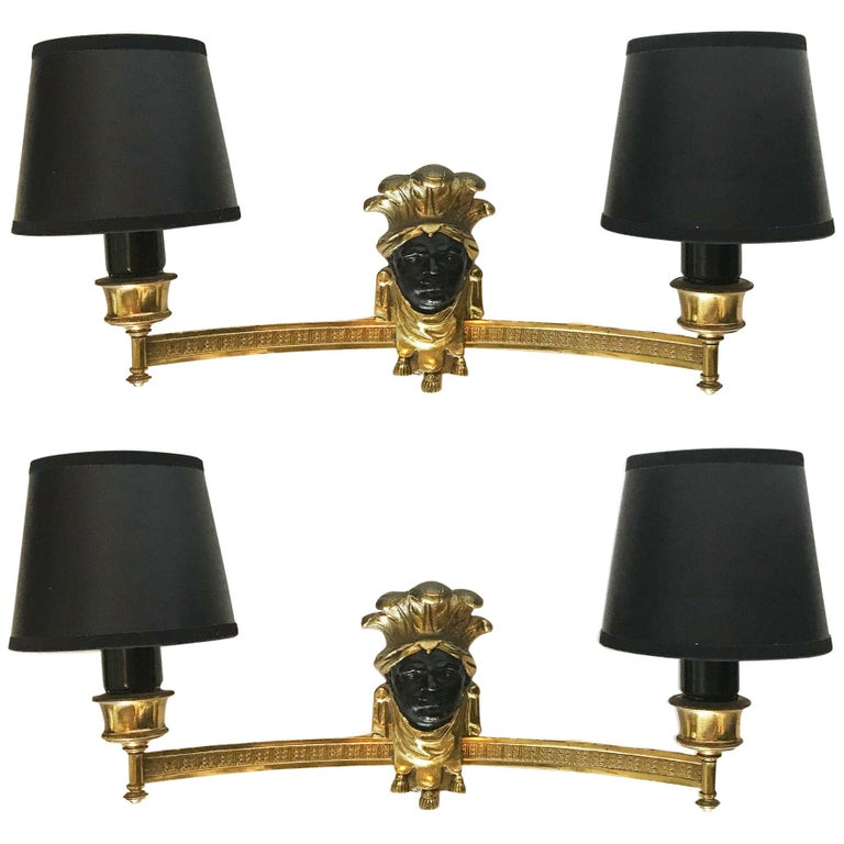 Superb Pair of Maison Baguès Sconces