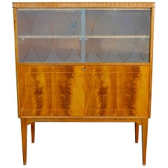 Swedish Art Moderne Dry Bar in Flame Mahogany, circa 1940