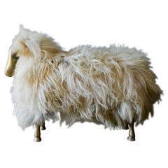 Claude and Francois-Xavier Lalanne Style Sheep Ottoman or Stool, circa 1970