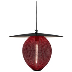 Mathieu Matégot 'Satellite' Pendant in Black and Red Metal