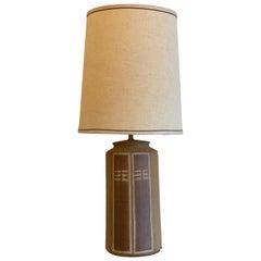 Studio Pottery Ceramic Table Lamp