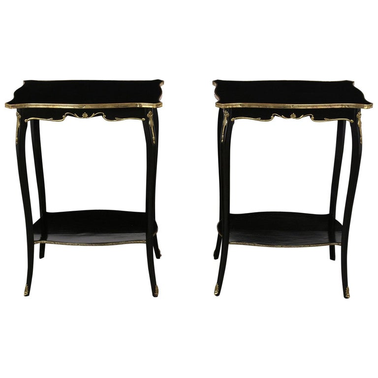 Pair of 1900s French Side Tables in Louis XV Style