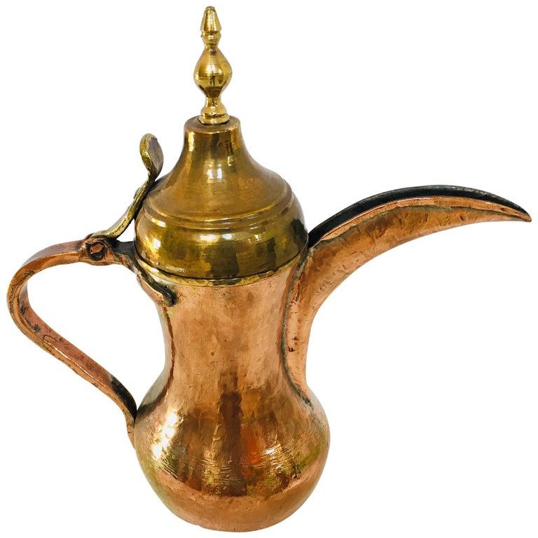 Middle Eastern Dallah Arabic Copper Coffee Pot