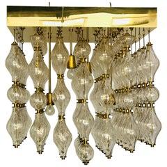 "Big Murano Glass Chandelier ""1950"""