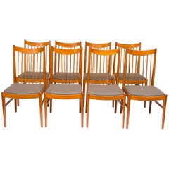 Set of Eight Midcentury Teak Dining Chairs by Arne Vodder for Sibast