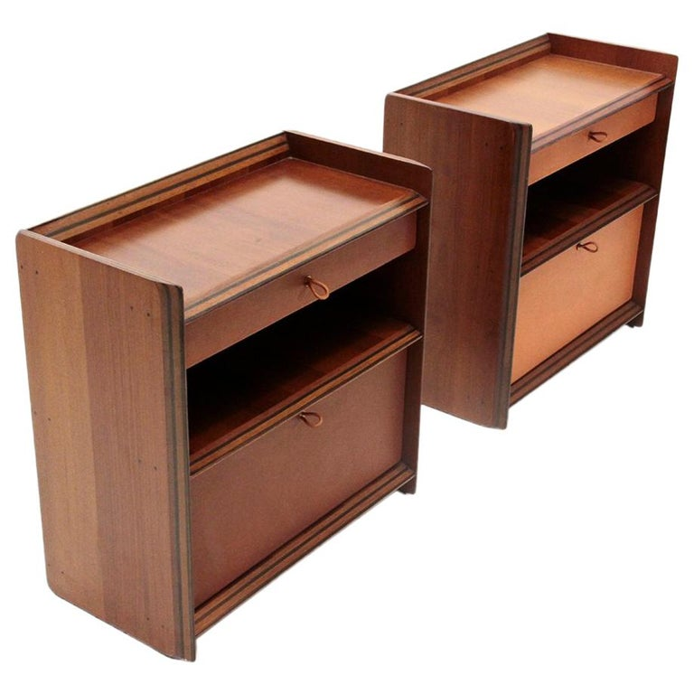 Bed Side Table by Afra e Tobia Scarpa for Max Alto, 1970s, Set of 2