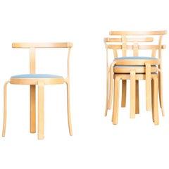 1980s Rud Thygsen & Johnny Sorensen Chairs for Magnus Olesen